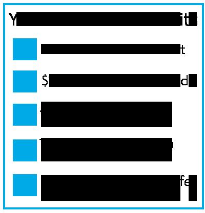 Check list-blue border